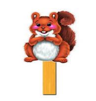 Scamper Stick Puppet (Preschool)