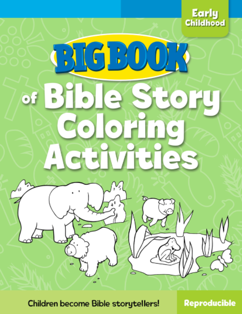 Big Book of Bible Story Coloring Activities for Early Childhood Cover